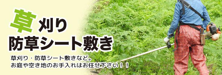 草刈り・防草シート敷き