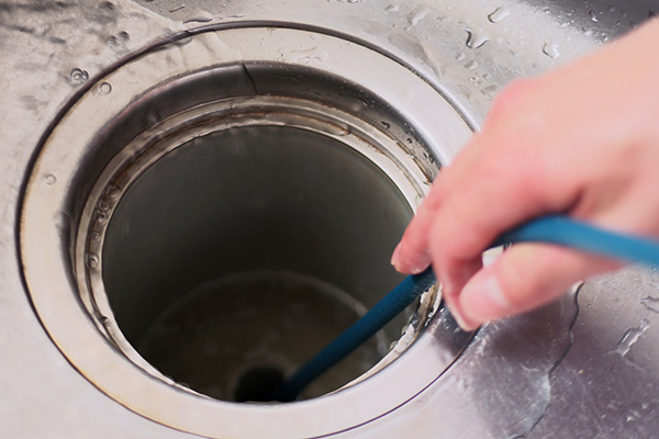 キッチンの排水口のお掃除